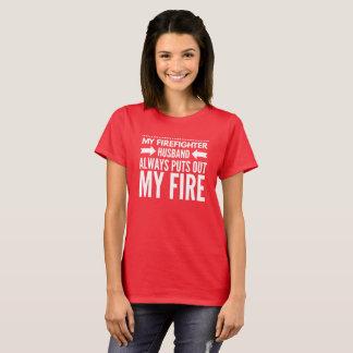 Mon mari de sapeur-pompier t-shirt