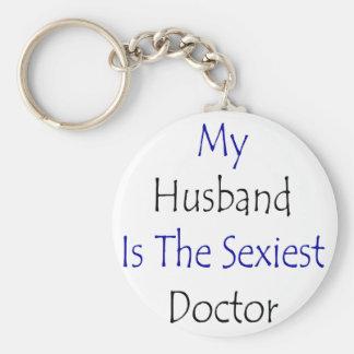 Mon mari est le docteur le plus sexy porte-clé rond