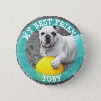 Mon meilleur ami, bouton de photo de chien badges