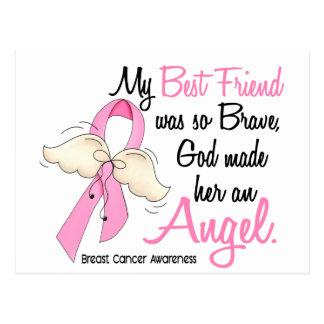 Mon meilleur ami est un cancer du sein de l'ange 2 carte postale
