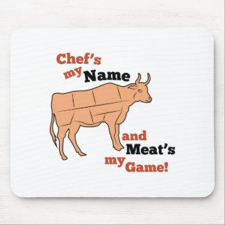 Mon nom du chef tapis de souris