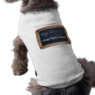 Mon nom est - habillement personnalisé d'animaux t-shirt pour chien