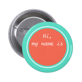 Mon nom est, personnalisé autour du Pin vide Badge