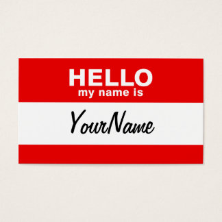 Mon nom est rouge fait sur commande vide de cartes de visite