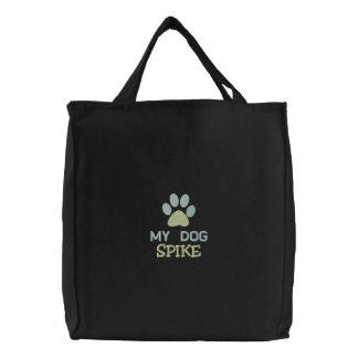 Mon nom fait sur commande de chien personnalisé sac brodé