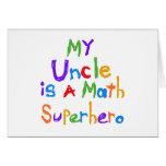 Mon oncle Math Superhero T-shirts et cadeaux Cartes De Vœux