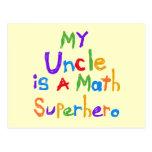 Mon oncle Math Superhero T-shirts et cadeaux Carte Postale
