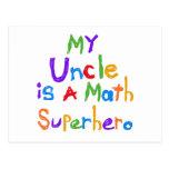 Mon oncle Math Superhero T-shirts et cadeaux Cartes Postales