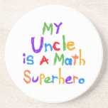 Mon oncle Math Superhero T-shirts et cadeaux Dessous De Verres