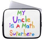 Mon oncle Math Superhero T-shirts et cadeaux Housse Ordinateur