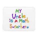 Mon oncle Math Superhero T-shirts et cadeaux Magnets En Vinyle