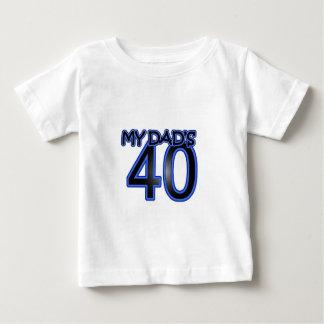 Mon papa 40 t-shirt pour bébé