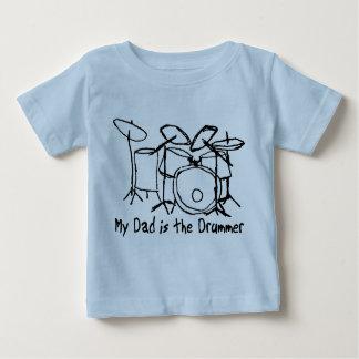 Mon papa est le batteur t-shirt pour bébé