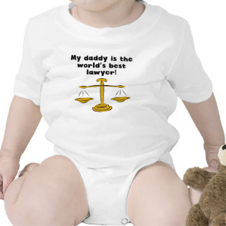 Mon papa est le meilleur avocat du mot bodies pour bébé
