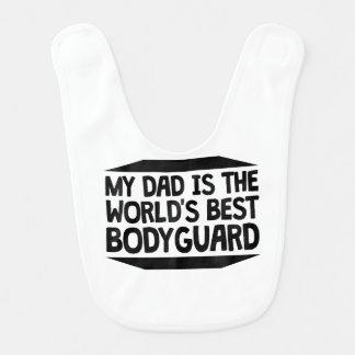 Mon papa est le meilleur garde du corps du monde bavoirs pour bébé