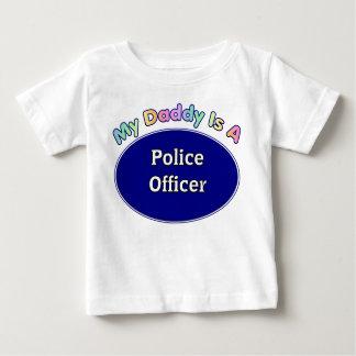 Mon papa est un policier t-shirt pour bébé