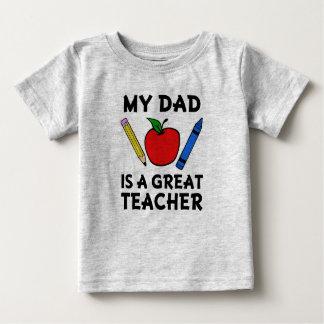 Mon papa est une chemise drôle de bébé de grand t-shirt pour bébé