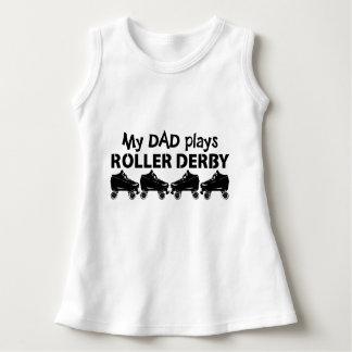 Mon papa joue le rouleau Derby, patinage de Robe Sans Manche