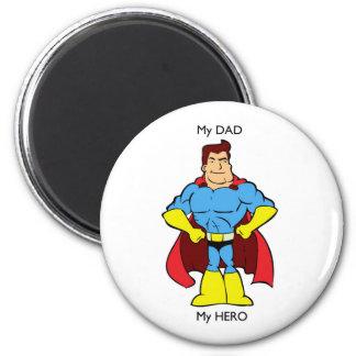Mon papa mon super héros de héros magnets pour réfrigérateur
