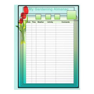 Mon papier de jardinage d'almanach prospectus personnalisés