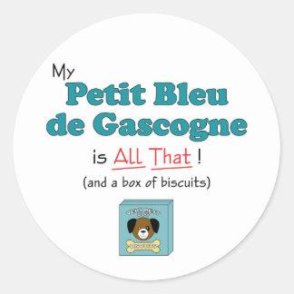 Mon Petit Bleu de Gascogne est tout cela ! Adhésifs Ronds