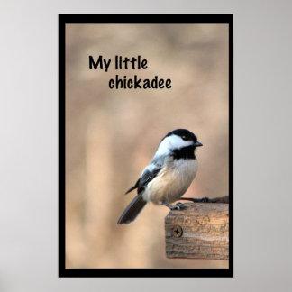 Mon petit chickadee posters