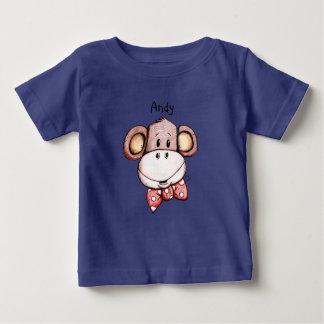 Mon petit T-shirt de coton de bébé de singe