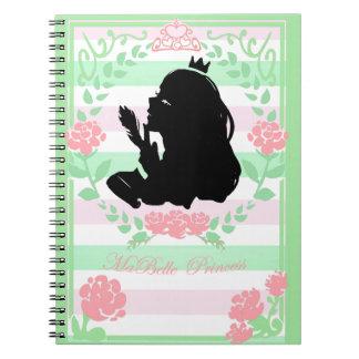 mon petits vert/rose de carnet de princesse