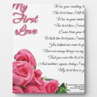 Mon premier art de poésie d'amour par Stanley Plaque D'affichage