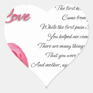 Mon premier art de poésie d'amour par Stanley Sticker Cœur