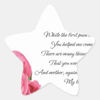 Mon premier art de poésie d'amour par Stanley Sticker Étoile