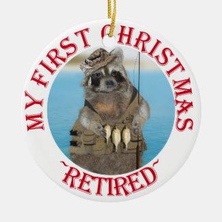 Mon premier Noël retiré Ornement Rond En Céramique