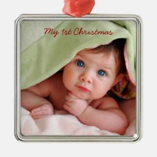 Mon premier ornement de photo en métal de Noël