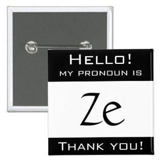 Mon pronom est ZE Badge