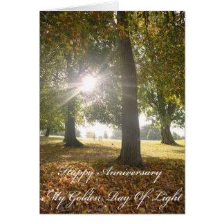 Mon rayon d'or de carte d'anniversaire de lumière