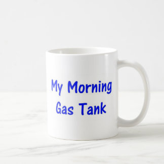 Mon réservoir de gaz de matin (bleu) mug blanc
