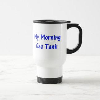 Mon réservoir de gaz de matin (bleu) mug de voyage en acier inoxydable