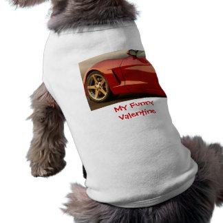 Mon rouge drôle Corvette de Valentine Manteaux Pour Chien