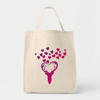 Mon sac à provisions de coeur de cerfs communs