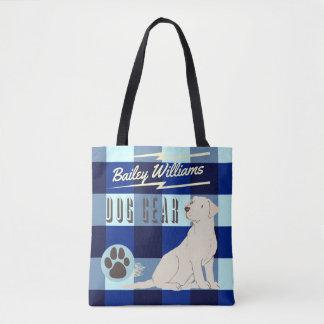 Mon sac bleu Checkered de vitesse de chien de