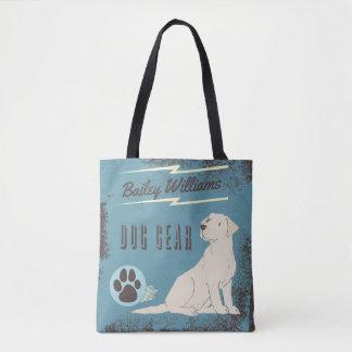 Mon sac de vitesse de chien de monogramme de chien