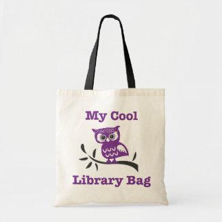 Mon sac frais de hibou de bibliothèque