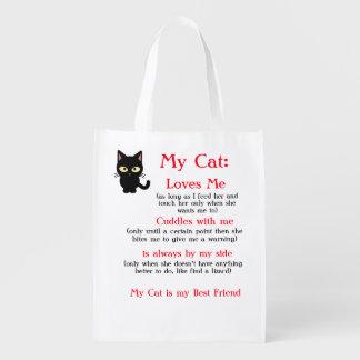 Mon sac réutilisable de chat