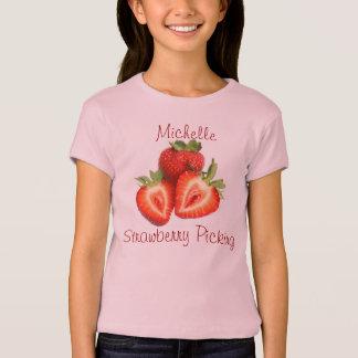 Mon T-shirt de nom de cueillette de fraise