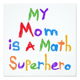 Mon T-shirts et cadeaux de super héros de maths de Invitations Personnalisées