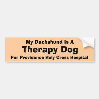Mon teckel est un chien de thérapie autocollant de voiture