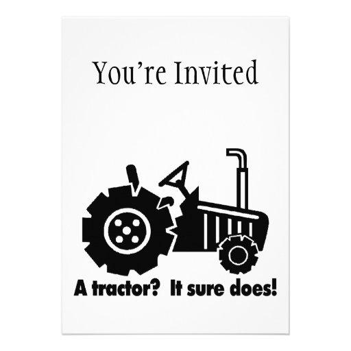Mon tracteur est un aimant de poussin faire-part personnalisé