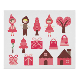 Mon Valentine doux A tout Poster