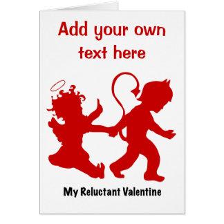 Mon Valentine réticent Carte De Vœux