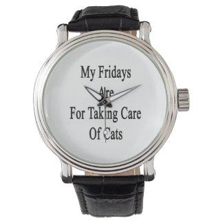 Mon vendredi est pour prendre soin des chats montres cadran